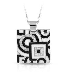 Belle Etoile Geometrica Italian Enamel & Sterling Pendant