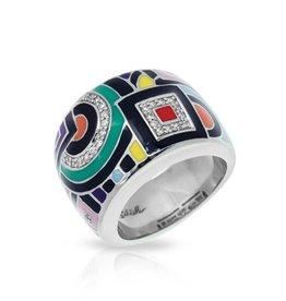Belle Etoile Geometrica Multi Color  Ring - Size 7