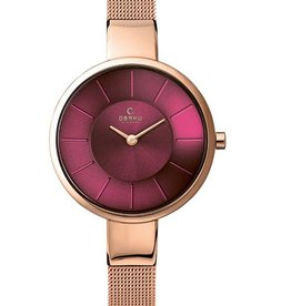 Obaku Watches Women's Sol - Ruby & Rose Gold