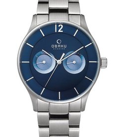 Obaku Watches Men's Luft - Denim & Stainless Steel