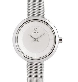 Obaku Watches Women's Stille- Stainless & White