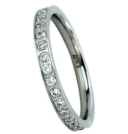 B. Tiff New York Stainless Eternity Band - Size 7
