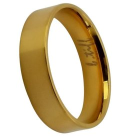 B. Tiff New York Brushed Gold Stainless Band