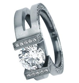 B. Tiff New York Elegant Stainless Steel Ring