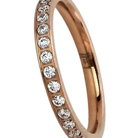 B. Tiff New York Rose Gold Plated Eternity Ring - Size 7