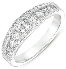 S. Kashi 14k  Diamond Channel Set Ring  .79 CTW