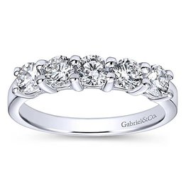 Gabriel & Co. 14K Round  Diamond Band .97 ctw