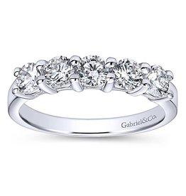 Gabriel & Co. 14K Round  Diamond Band .97 ctw