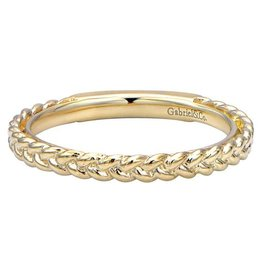 Gabriel & Co. Gabriel 14K Yellow Gold Braided Wedding Band