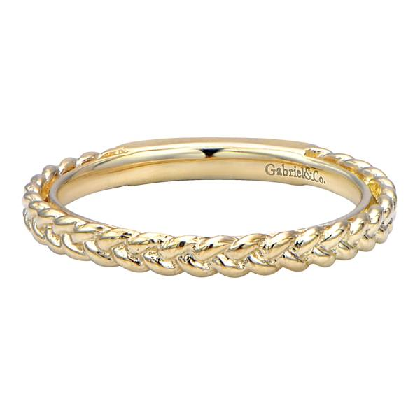 Gabriel co gabriel 14k yellow gold braided wedding band golden gabriel 14k yellow gold braided wedding band junglespirit Choice Image
