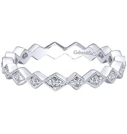 Gabriel & Co. 14K Diamond Stackable Ring .20 ctw