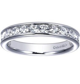 Gabriel & Co. Gabriel 14K White Gold Diamond Band 1.01 CT. T.W.