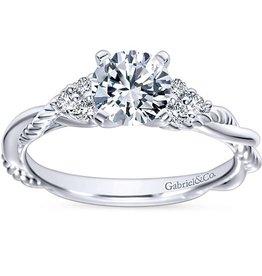 Gabriel & Co. 14K Catalina Engagement Ring .13 ctw