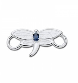 LeStage Dragonfly Sterling and Iolite Clasp