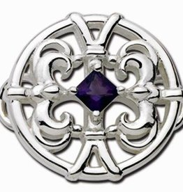 LeStage  Sterling Silver and Amethyst Clasp