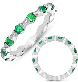 S. Kashi 14K White Gold Tsavorite & Diamond Ring