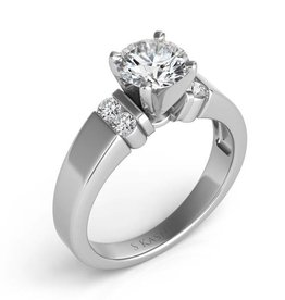 S. Kashi 14K White Gold Semi-Mount .18 CTW