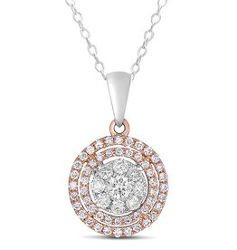 S. Kashi Rose and White Gold Diamond Pendant