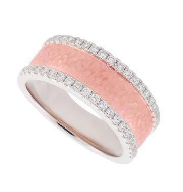 PeJay Creations 14K RG Diamond Eternity Ring .42 ctw