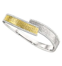 PeJay Creations 14K Diamond Bangle 1.52 ctw.
