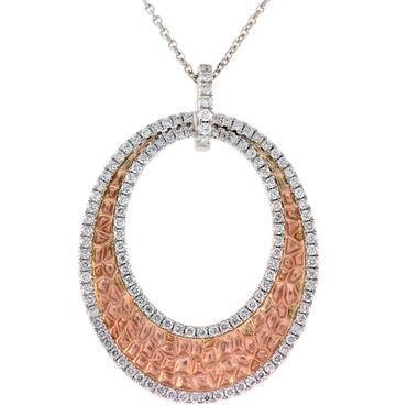 PeJay Creations Ashley  Boutique Two-Tone Pendant .80 ctw