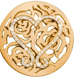 Nikki Lissoni 'Lovely Roses' Large Gold Coin