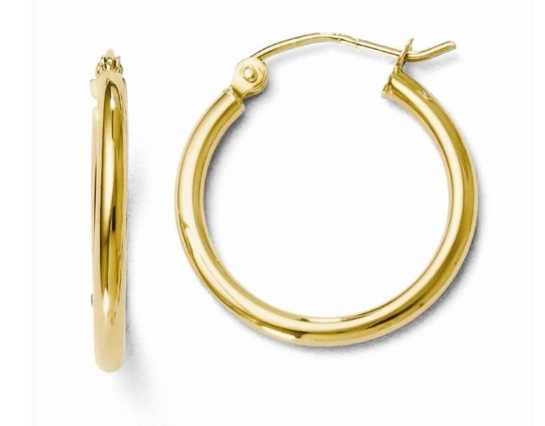 14K YG Hoop Earrings