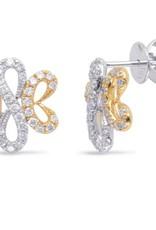 S. Kashi 14K White & Yellow Gold Diamond Earrings