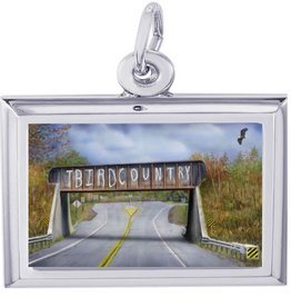 """T-Bird Country"" Bridge Charm - Large"