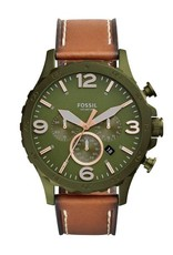 The Fossil Group Nate Collection - Olive Green & leather