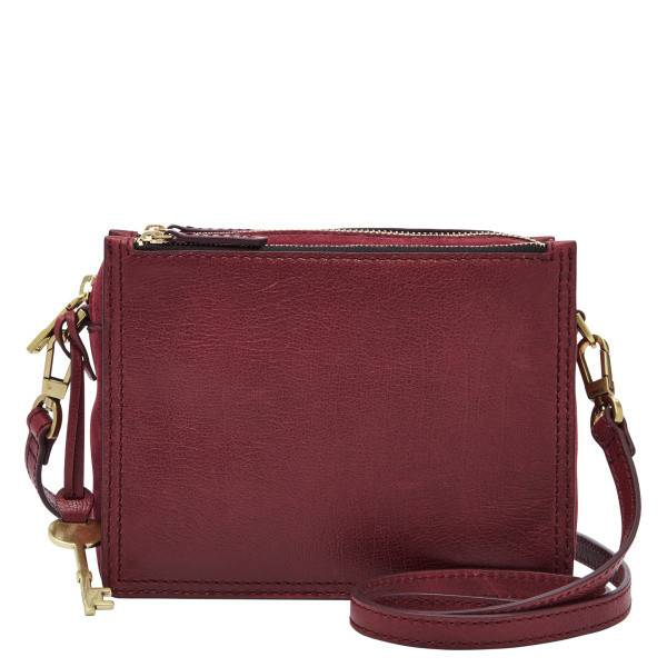 The Fossil Group Campbell Crossbody Purse in Cabernet