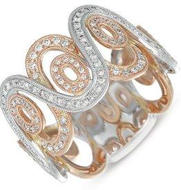 S. Kashi 14K Pave Diamond Ring .60 CTW
