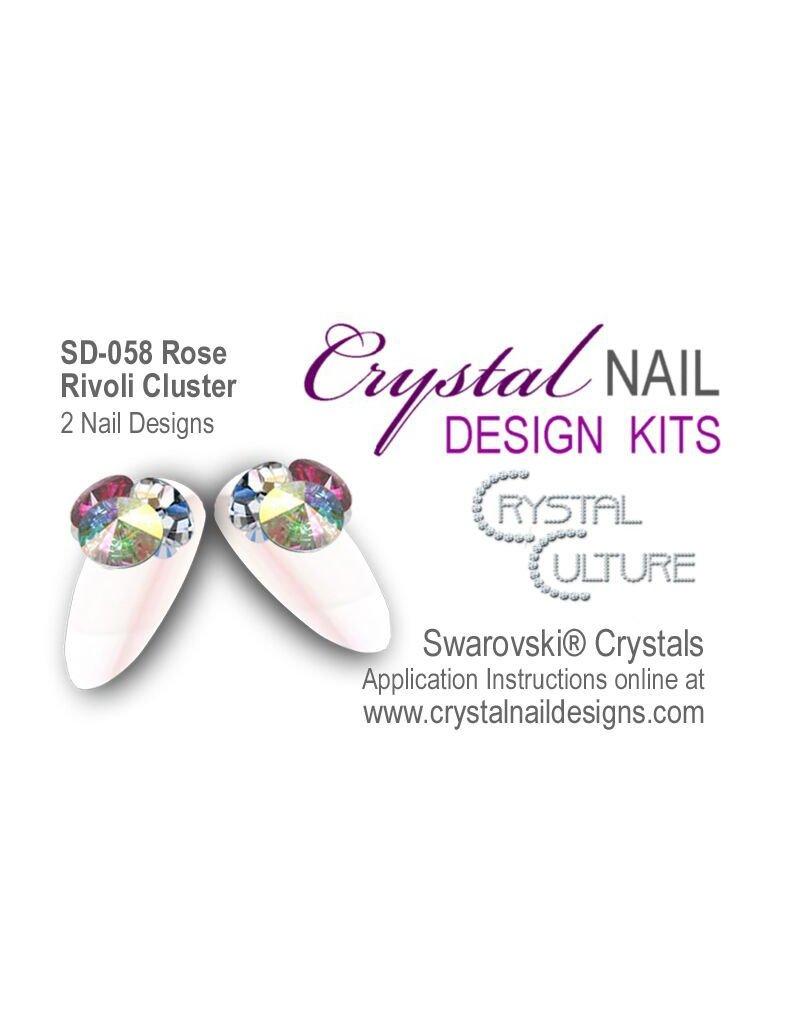 Crystal Culture ROSE RIVOLI CLUSTER