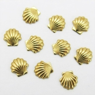 Gellipop Metal Studs Shell Gold 5mm