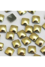 Gellipop Metal Studs Square Gold 2x2mm