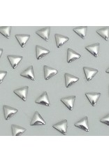Gellipop Metal Studs Triangle Silver 3mm