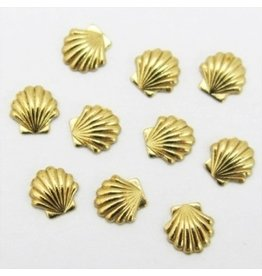 Gellipop Metal Studs Shell Gold 3mm