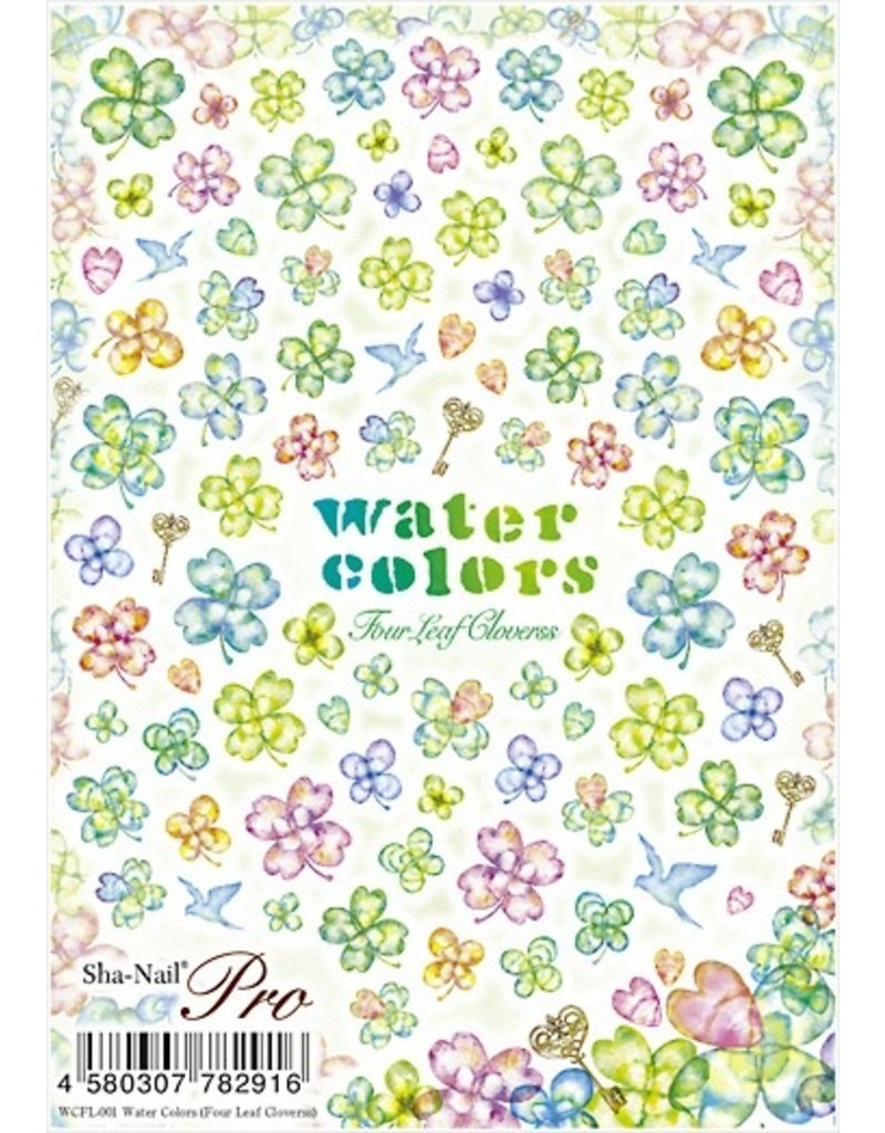 Water Colors Four Leaf Clovers
