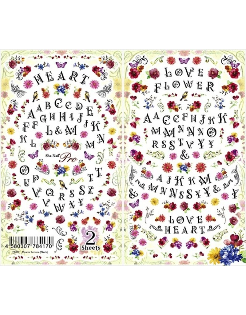Flower Letters (Black)
