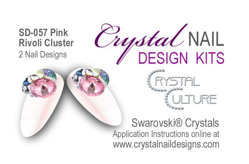 Crystal Culture PINK RIVOLI CLUSTER