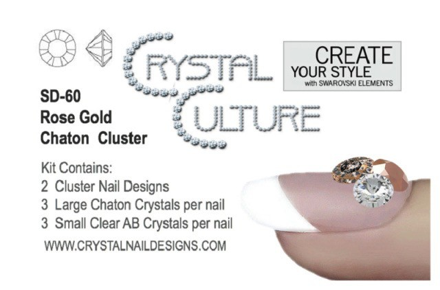 Crystal Culture ROSE GOLD CHATON CLUSTER