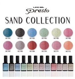 Nail Labo Presto Color Gel Sand Collection- All 12 Colors