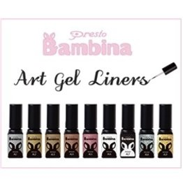 Nail Labo Presto Bambina Art Gel Liner Set [Polish]- All 9 Colors