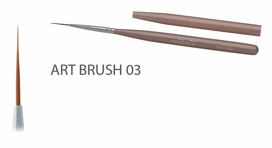 Akzentz Gel Art Liner Brush #03