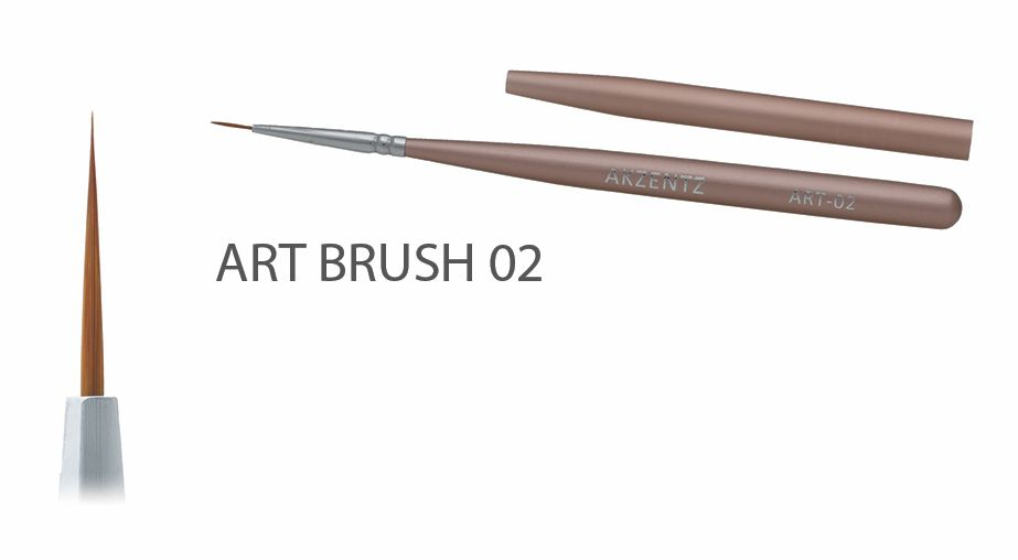 Akzentz Gel Art Liner Brush #02