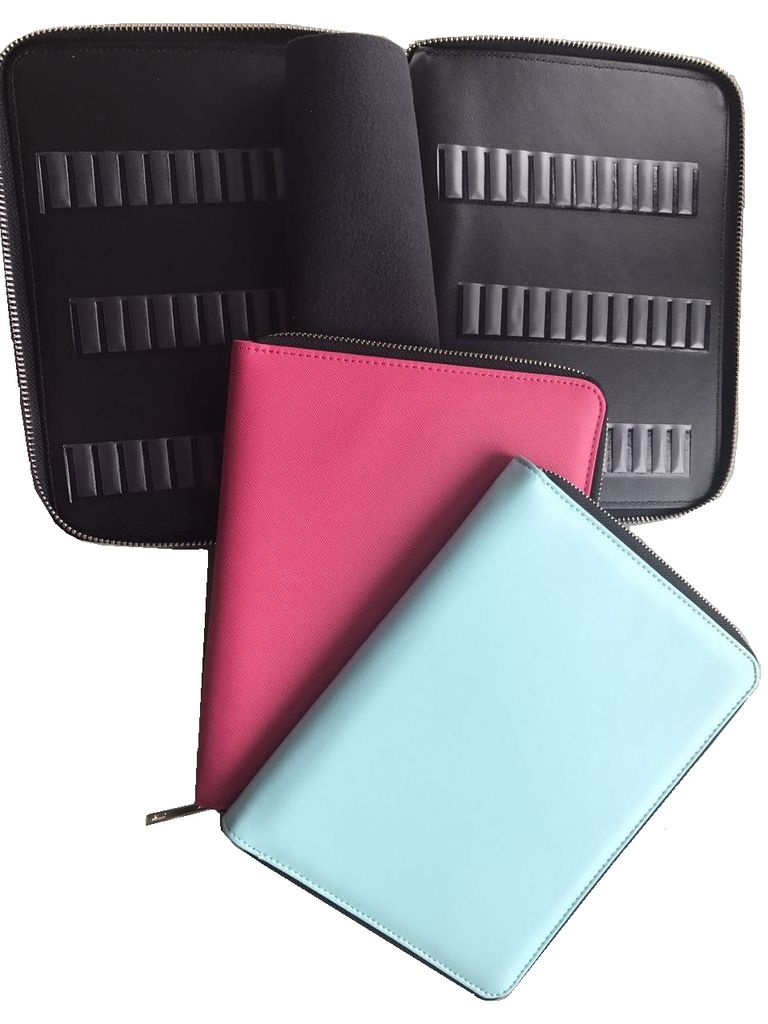 Erica's ATA Bit Binder - holds 72 bits (Blue and Pink)