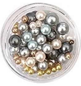 Nail Labo PEARL BALL ASSORTED GRAY