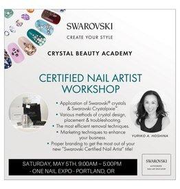 Gellipop 05/05/18 Swarovski Certified Nail Artist Workshop Deposit for Oregon Nail Expo