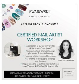 Gellipop 04/22/18 Swarovski Certified Nail Artist Workshop Deposit of $250