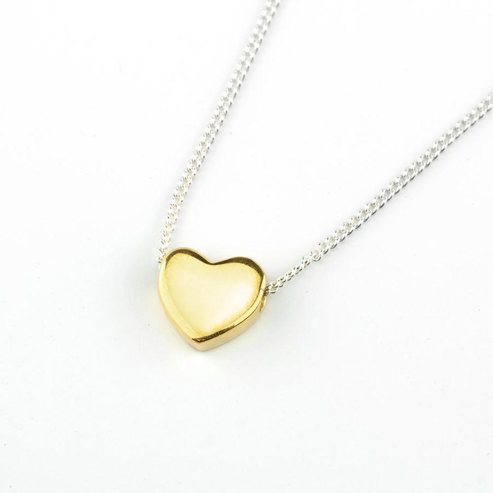 BARONI DESIGNS Necklace Chloe Gold Heart Silver Chain
